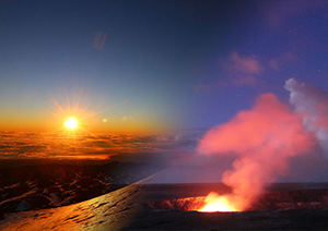 【コンビネーション】マウナケア星空山頂とサンライズツアー+世界遺産キラウエア火山とスターゲイジング