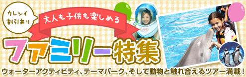 【オプショナルツアー】大人も子供楽しめるツアー満載!
