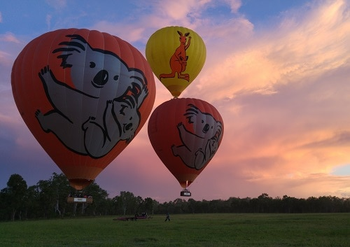 熱気球遊覧飛行体験ツアー