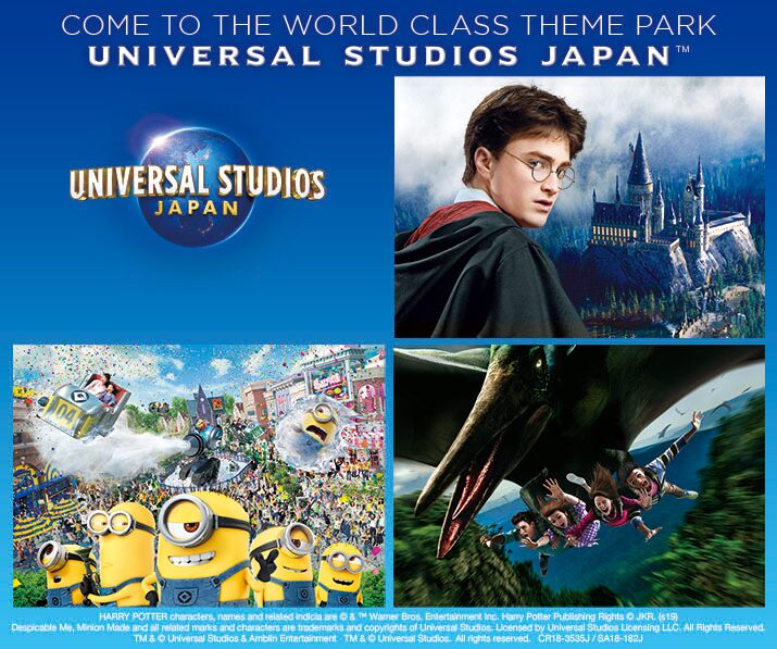 [Combo] Universal Studios Japan (USJ) 1 Day Price A-D + Airport Limousine Bus (Osaka)